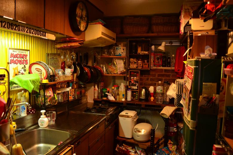 2dkのダイニングを潰してキッチンにしてた頃の写真