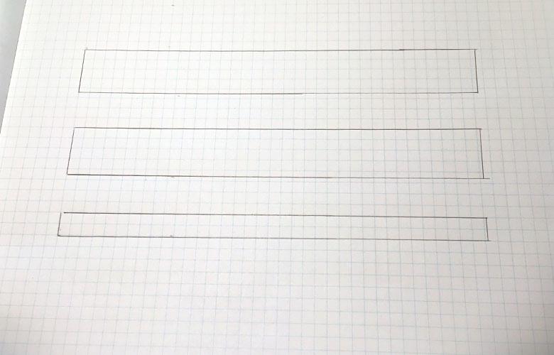 ホームセンターのカット加工に出す図面の書き方1