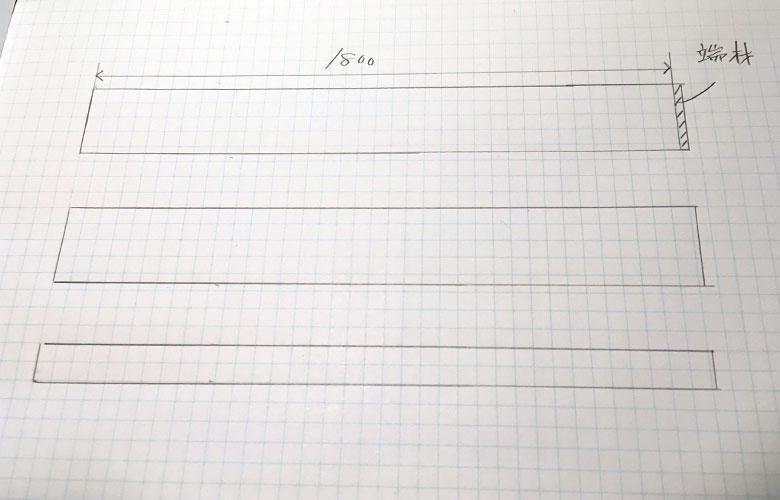 ホームセンターのカット加工に出す図面の書き方2