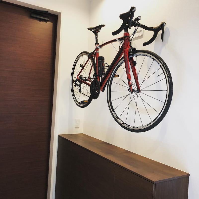 賃貸でも自転車を壁掛けDIY