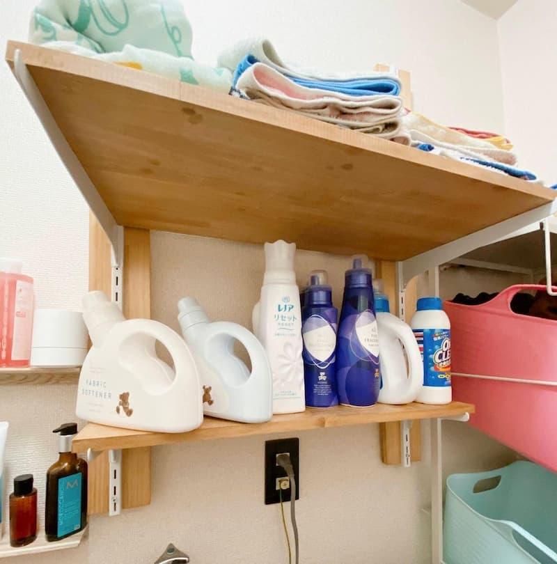 ナゲシレールで作った洗面所の収納
